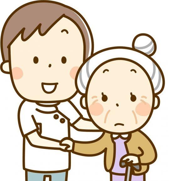 介護士とおばあちゃん
